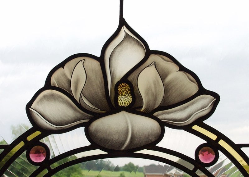 Magnolia stained glass detail