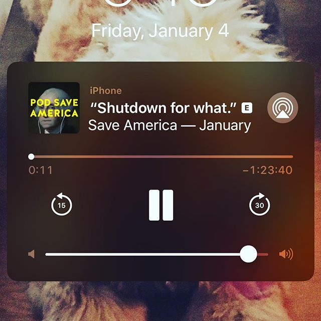 Im having a really terrible day. This made me laugh out loud. Thanks @podsaveamerica #laughter #goodvibes #smile #funny #shutdown