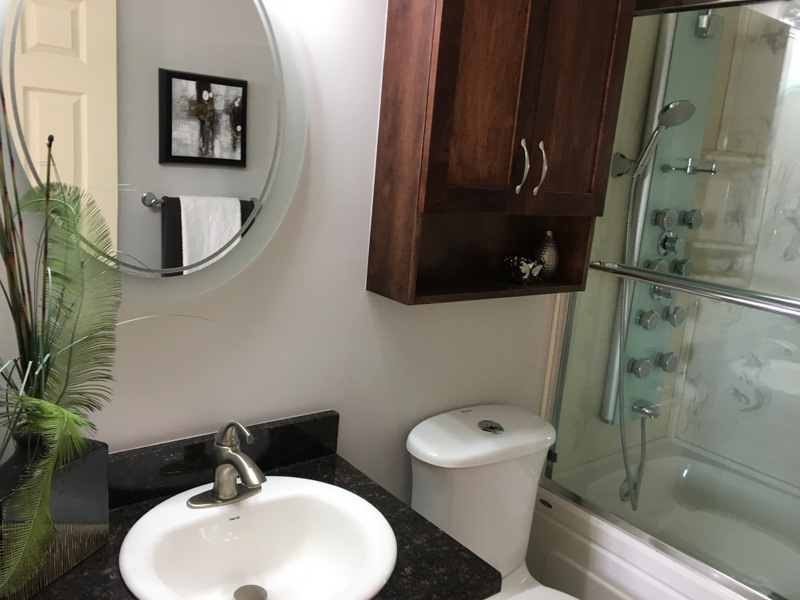 The Main bathroom needed to be repainted to brighten it and get it looking ready for its new family with fresh colour. It was too intense and dark for the small room.