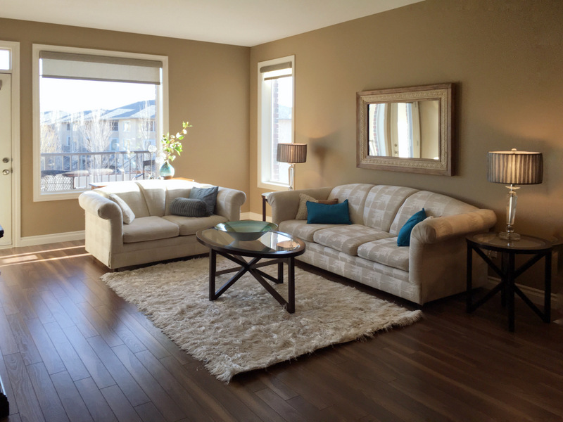 Large sunny Living room with Balcony.