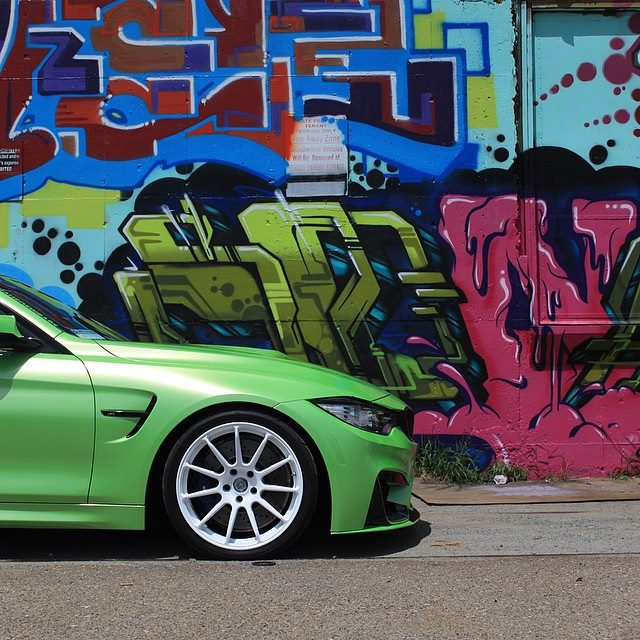BMW-Vinyl-Wrap-Green-M4
