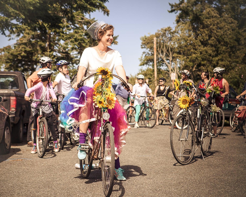 bike wedding Port Townsend