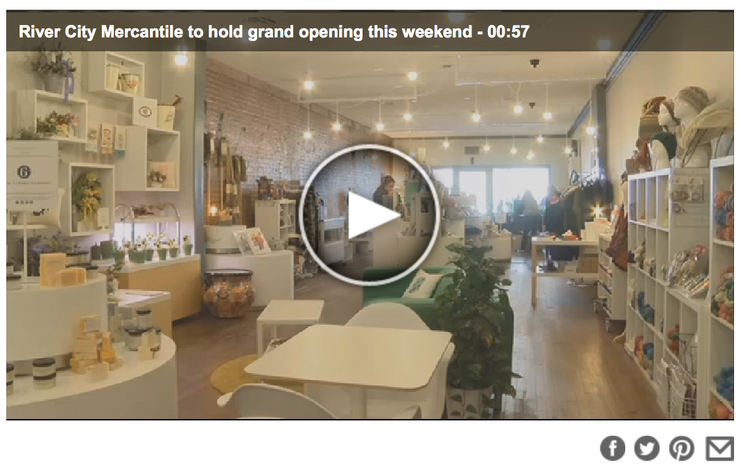 """River City Mercantile to hold grand opening this weekend"" • 14 News 03.02.16"