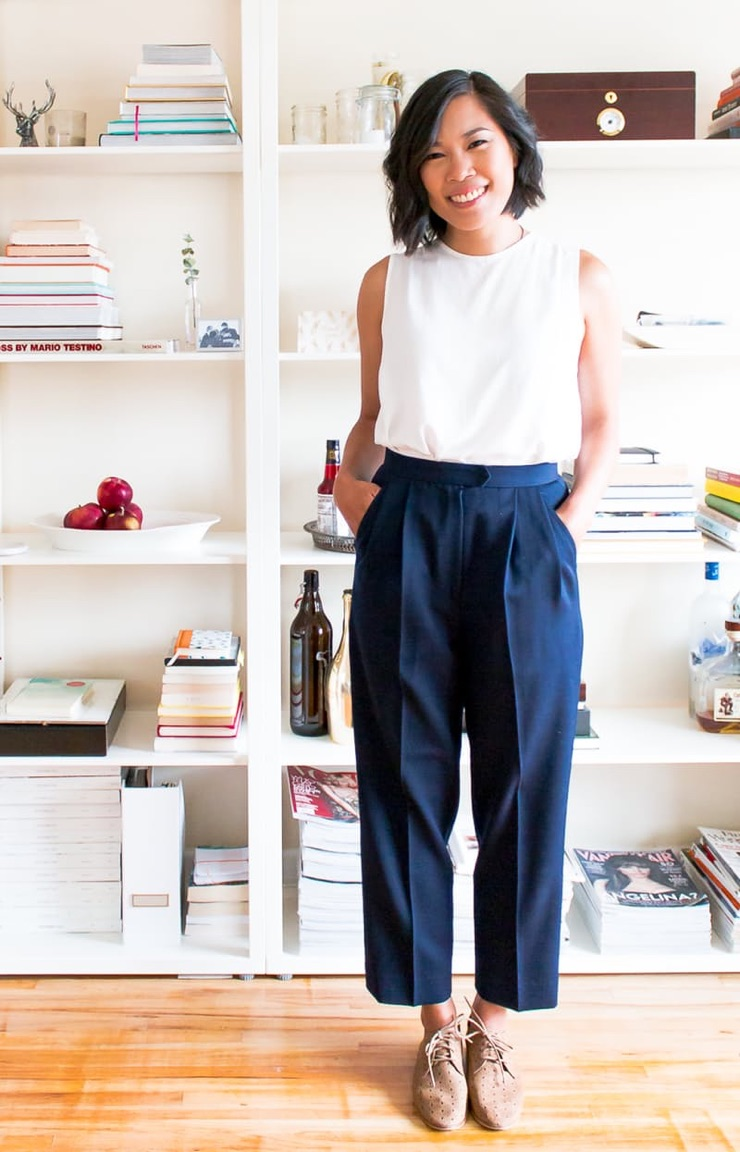 Portrait of Vancouver fashion stylist, Elim Chu