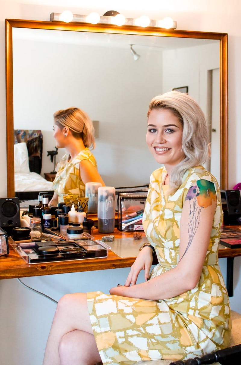 Makeup artist Kristin Andersson for Apartment Therapy