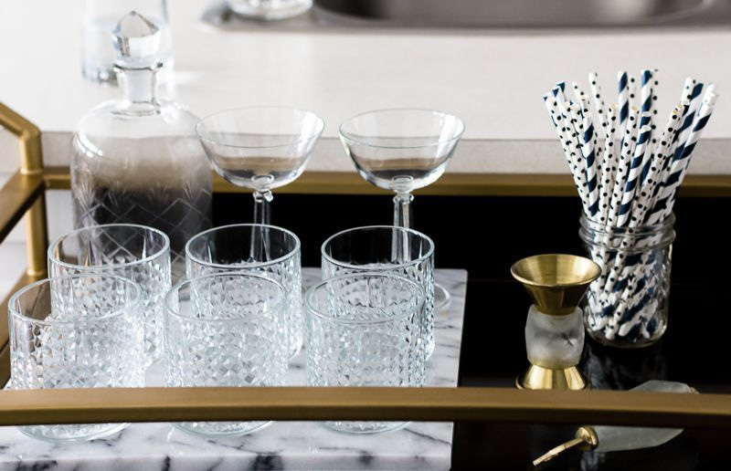 Detail shot of bar; interior shoot for Shelby Girard, Creative Director of Havenly