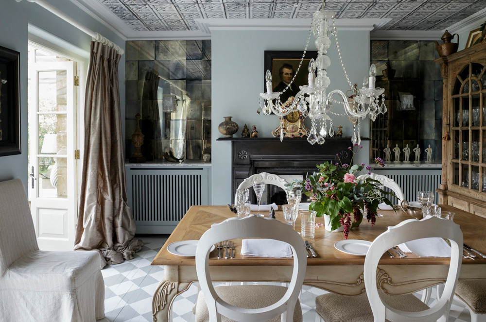 Domino: Tour a British Designer's Gorgeous Countryside Manor
