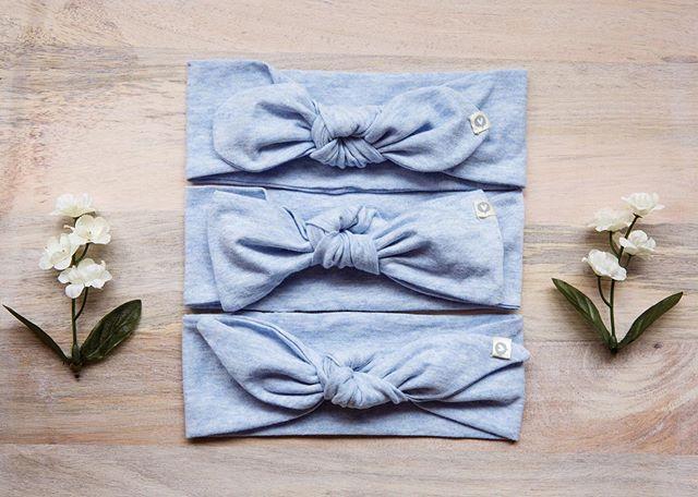 😌 | Pure Cotton Heather Sky Headbands come in 3 styles : Dumbo, Laia, Bunny ❤️ #accentyourlittleone #handmade #womenempowerment #jobcreation #motherhood #love