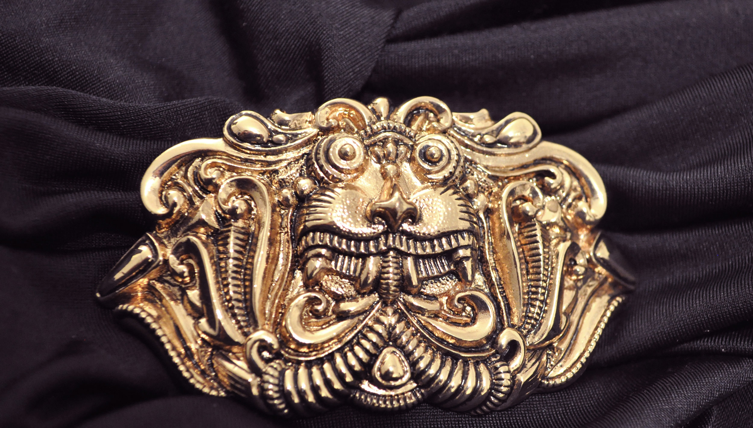 One Of a Kind - Custom made unique design light gold buckle