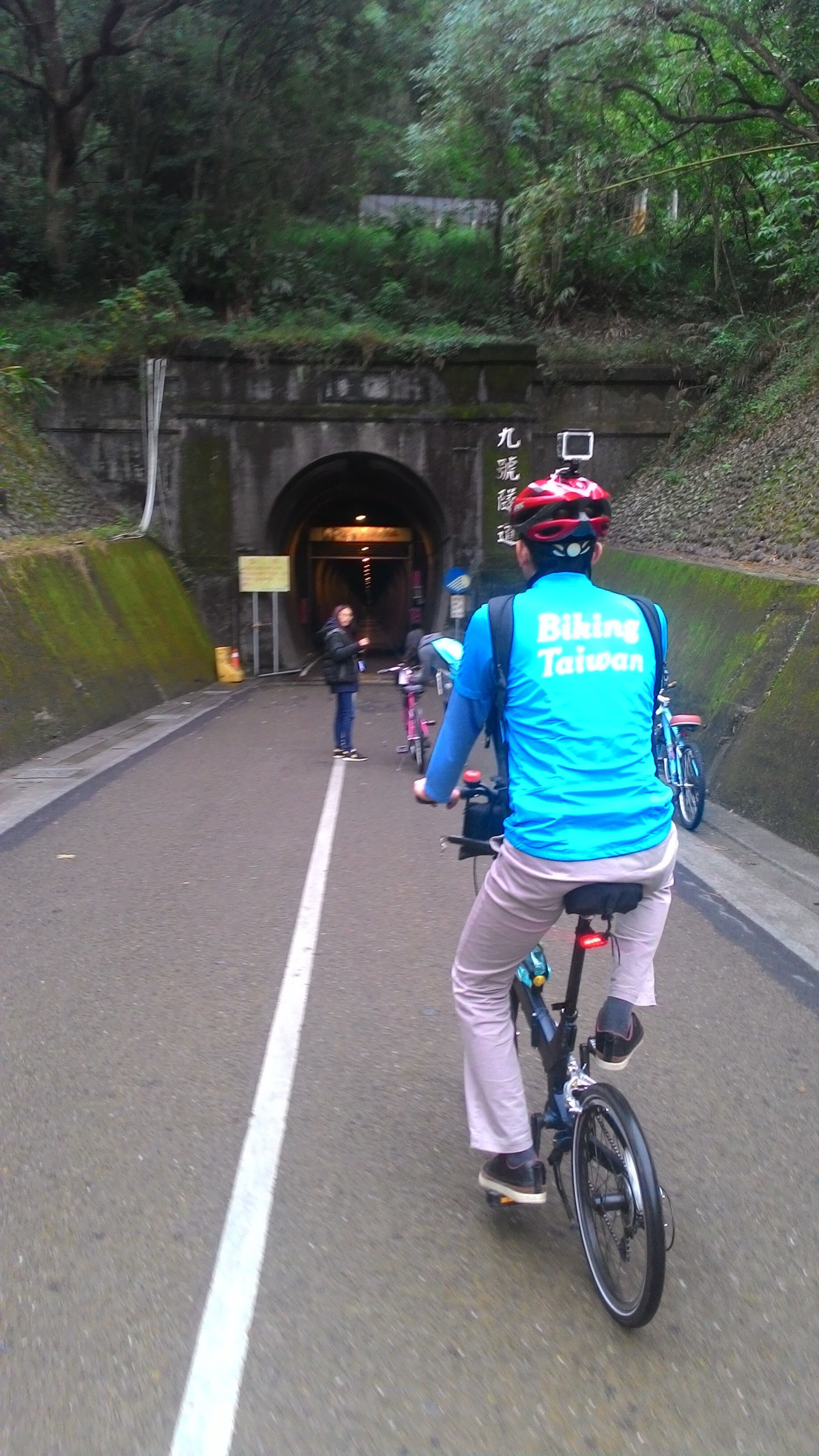 Entering the old tunnel with histories!