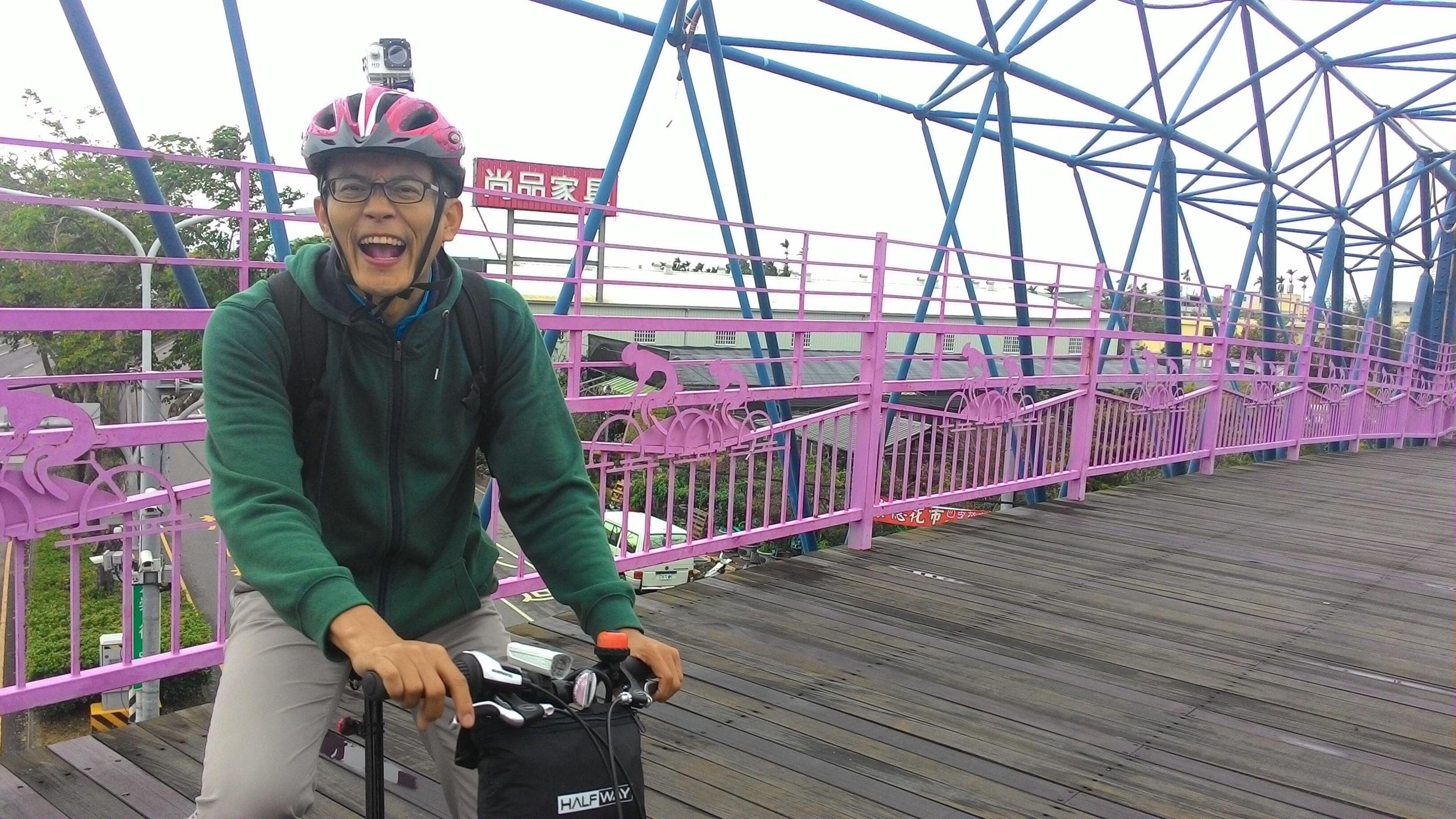 Having lots of fun Biking Taiwan