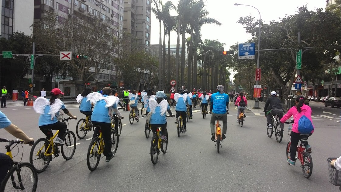 Angels Team :) - Taipei Velo-City Global 2016 Bicycle Parade