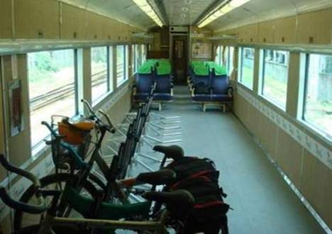 special car with bike racks and seats, promote travel in east coast