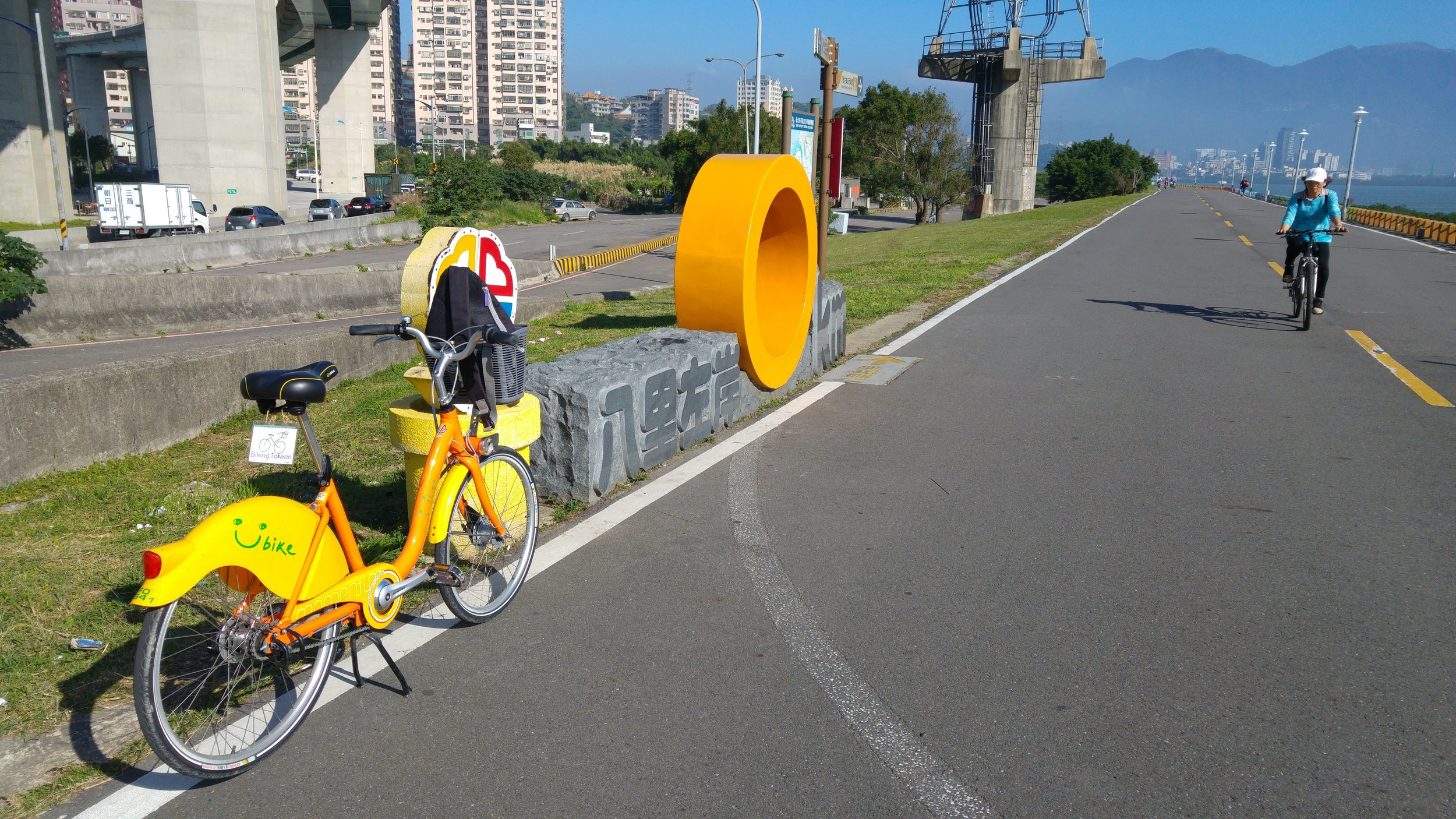 Strating point of Bali Left Bank of Tamshui River Bike Path