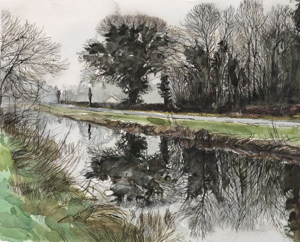 Grey Winter Day Below Darcy's Bridge
