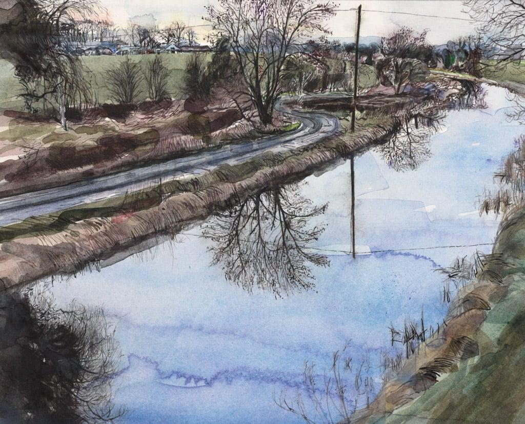 Royal Canal and Road into Annascannan