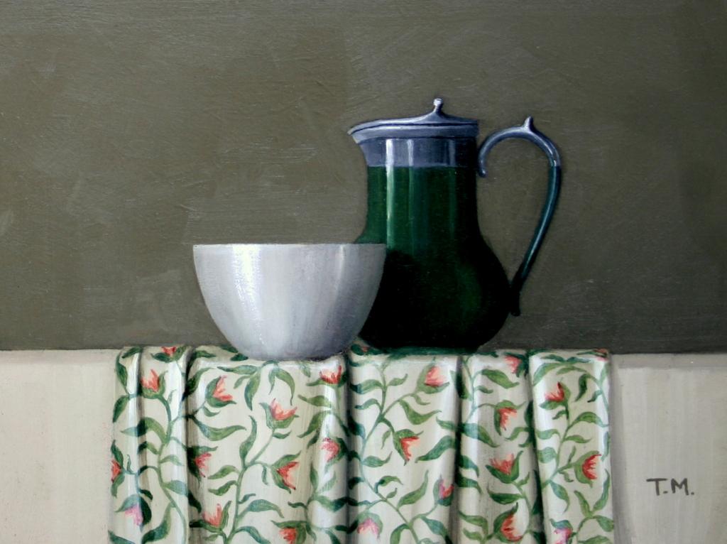Green Coffee Pot