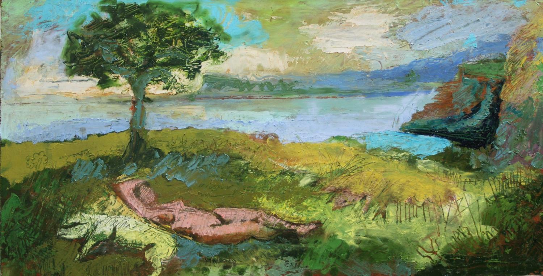 Two Sleeping Venuses, Ballintoy, Study - Diarmuid Delargy