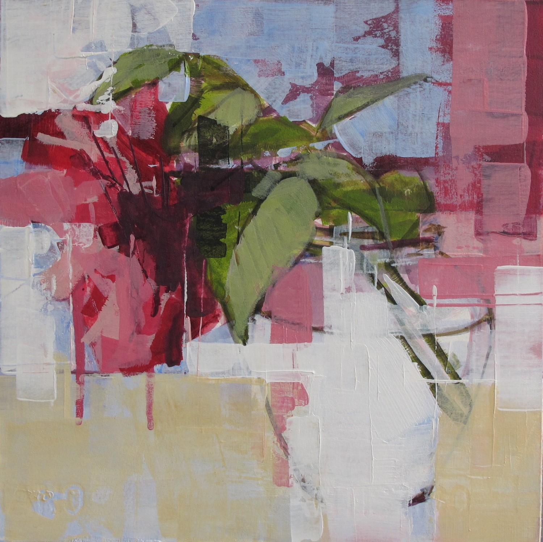 Rose in Glass Jar - Bridget Flinn