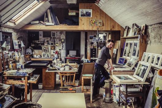 Clive Bright in studio.