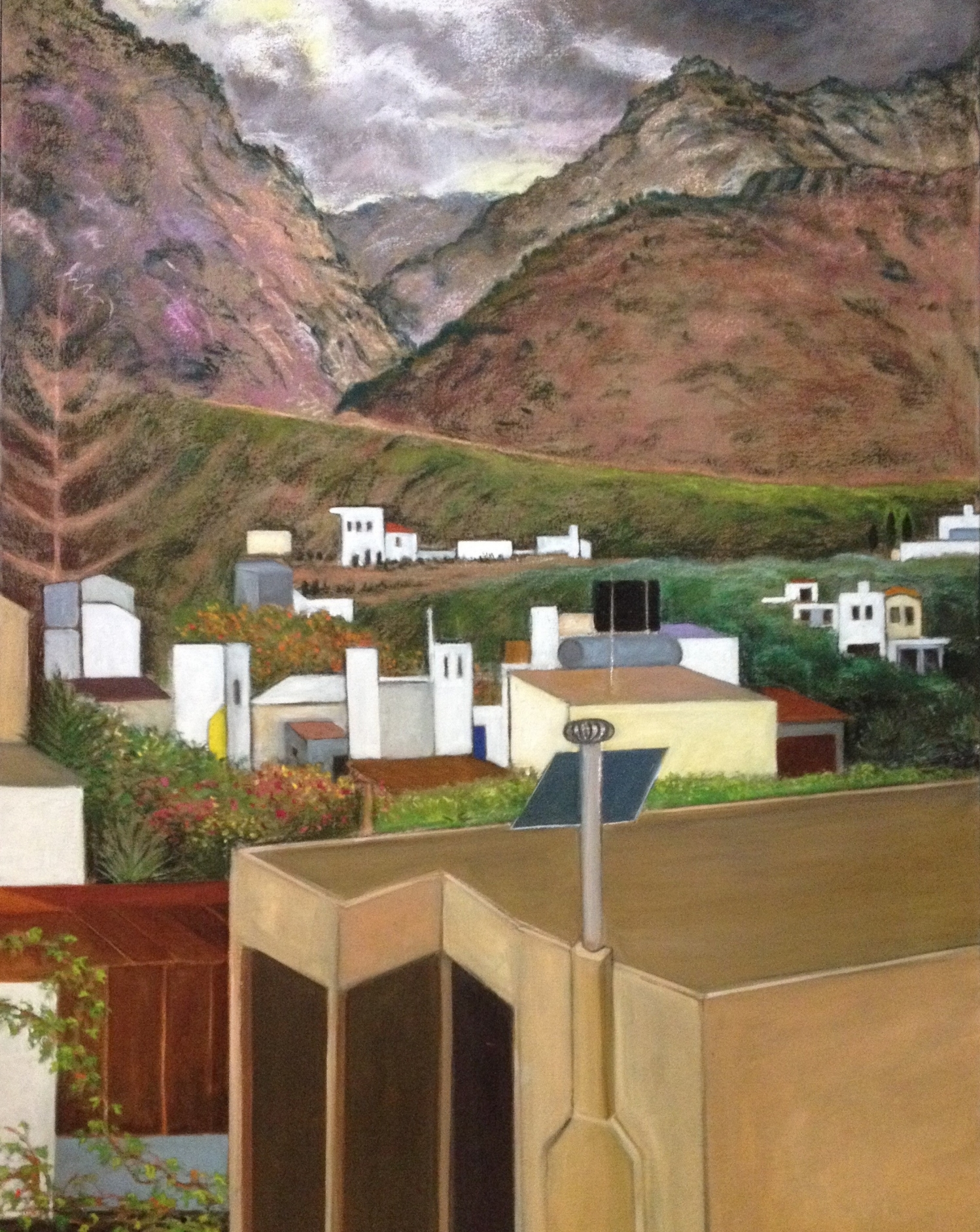 Over beyond Crete oil and pastel 112cm x 76cm by Jay Murphy