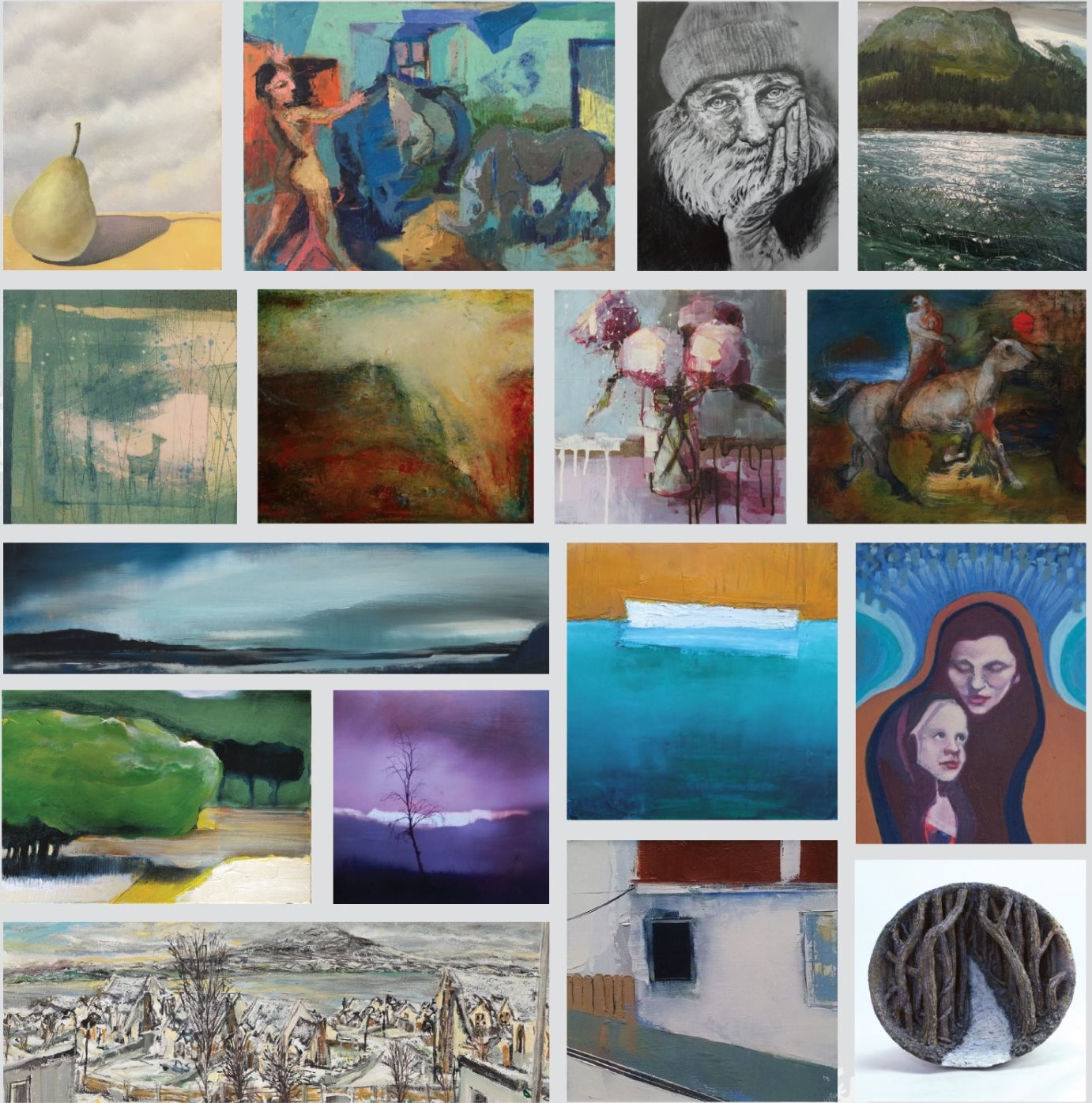 Hamilton Gallery 2016 Invited Artists Exhibition Collage.