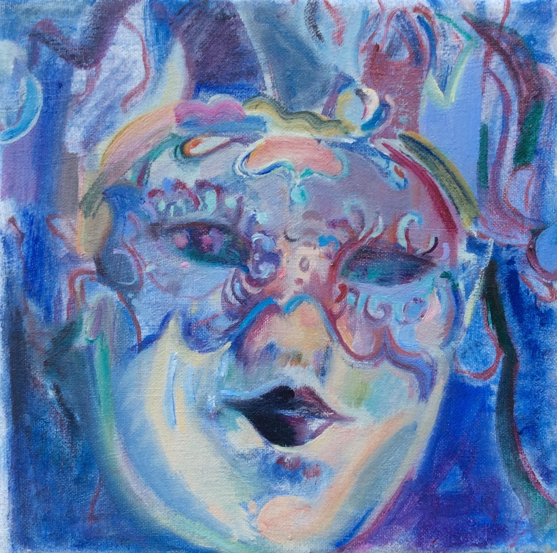 The Poet's mask  - Angela Hackett