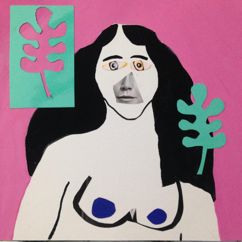 Crazy Jane and oak leaves - Lorna Watkins
