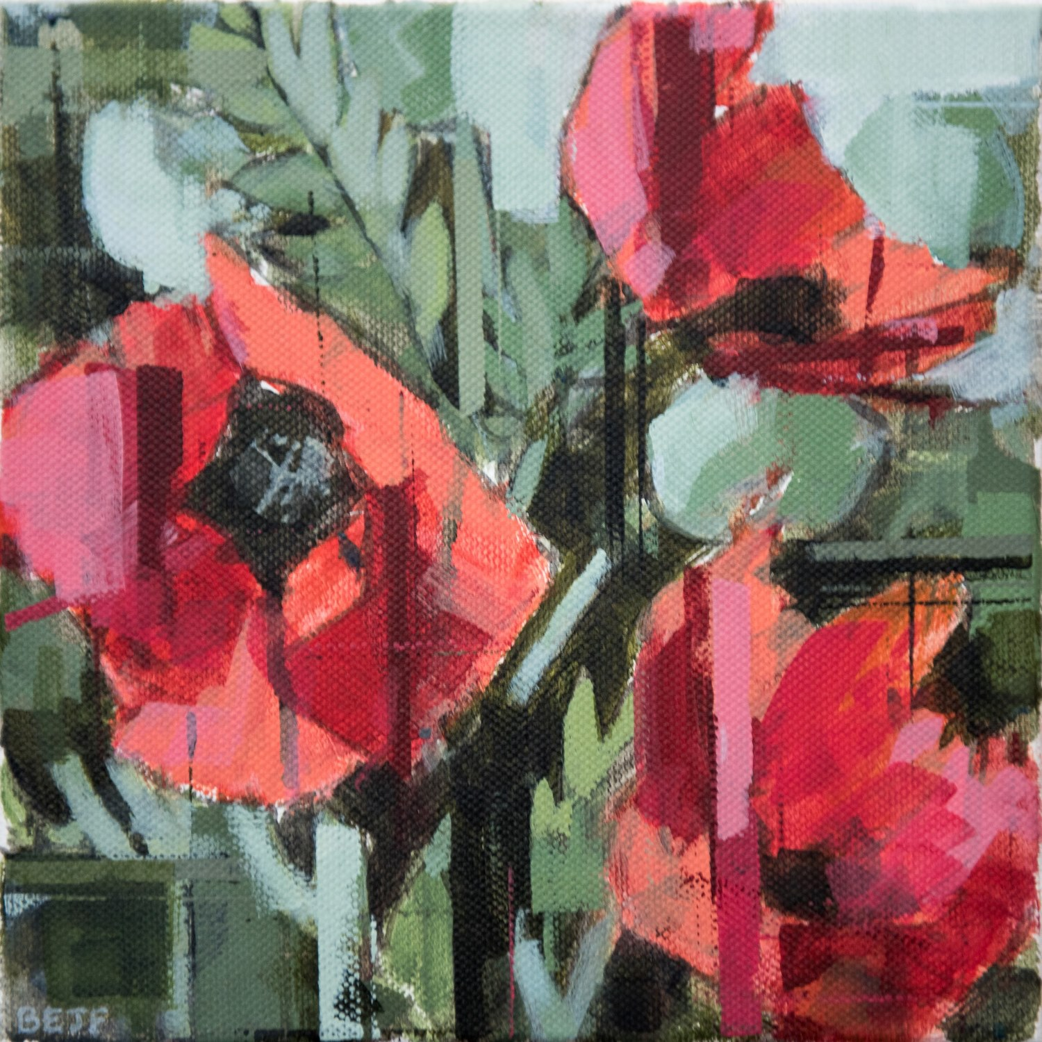 Blood Red Poppies - Bridget Flinn