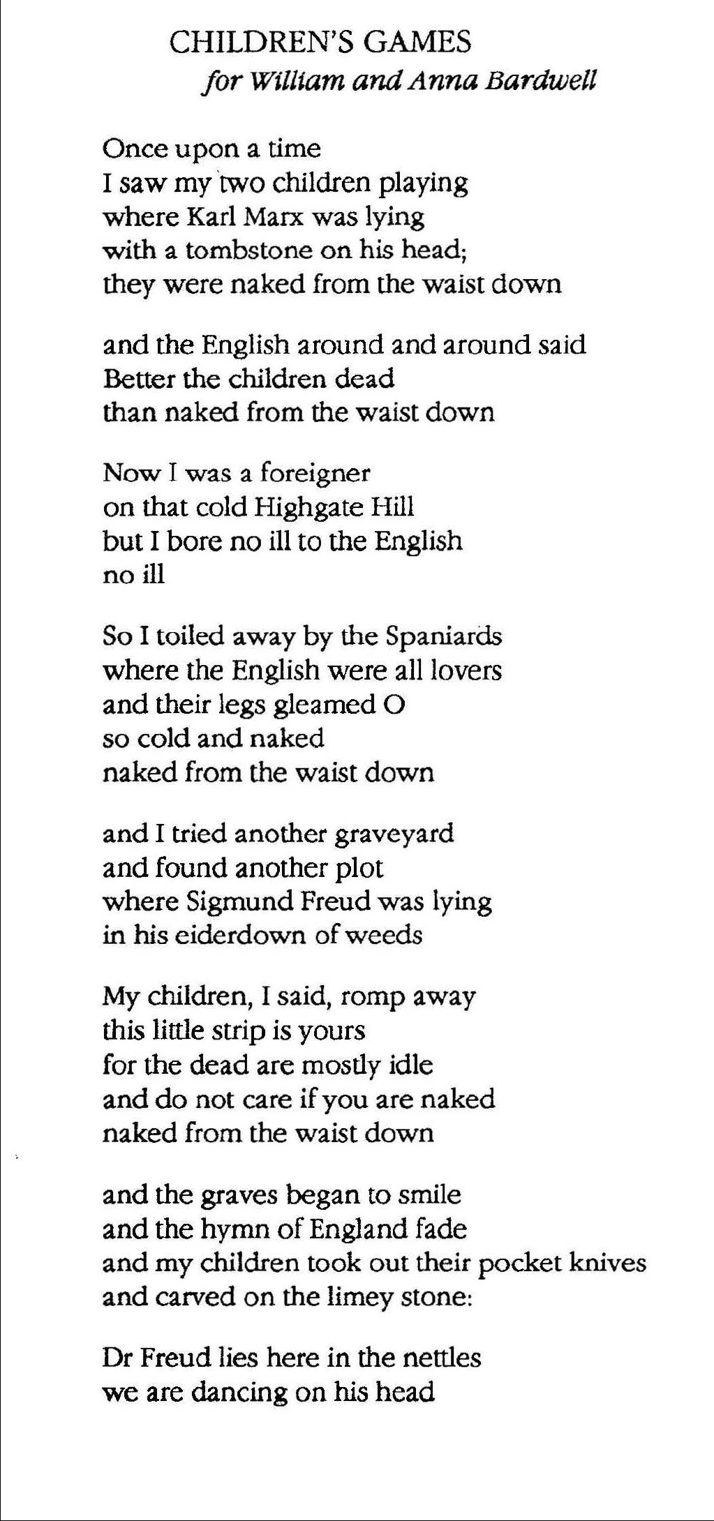 Copy-write Leland Bardwell / Dedalus Press. Click on poem to see Leland Bardwell titles available through Dedalus Press.