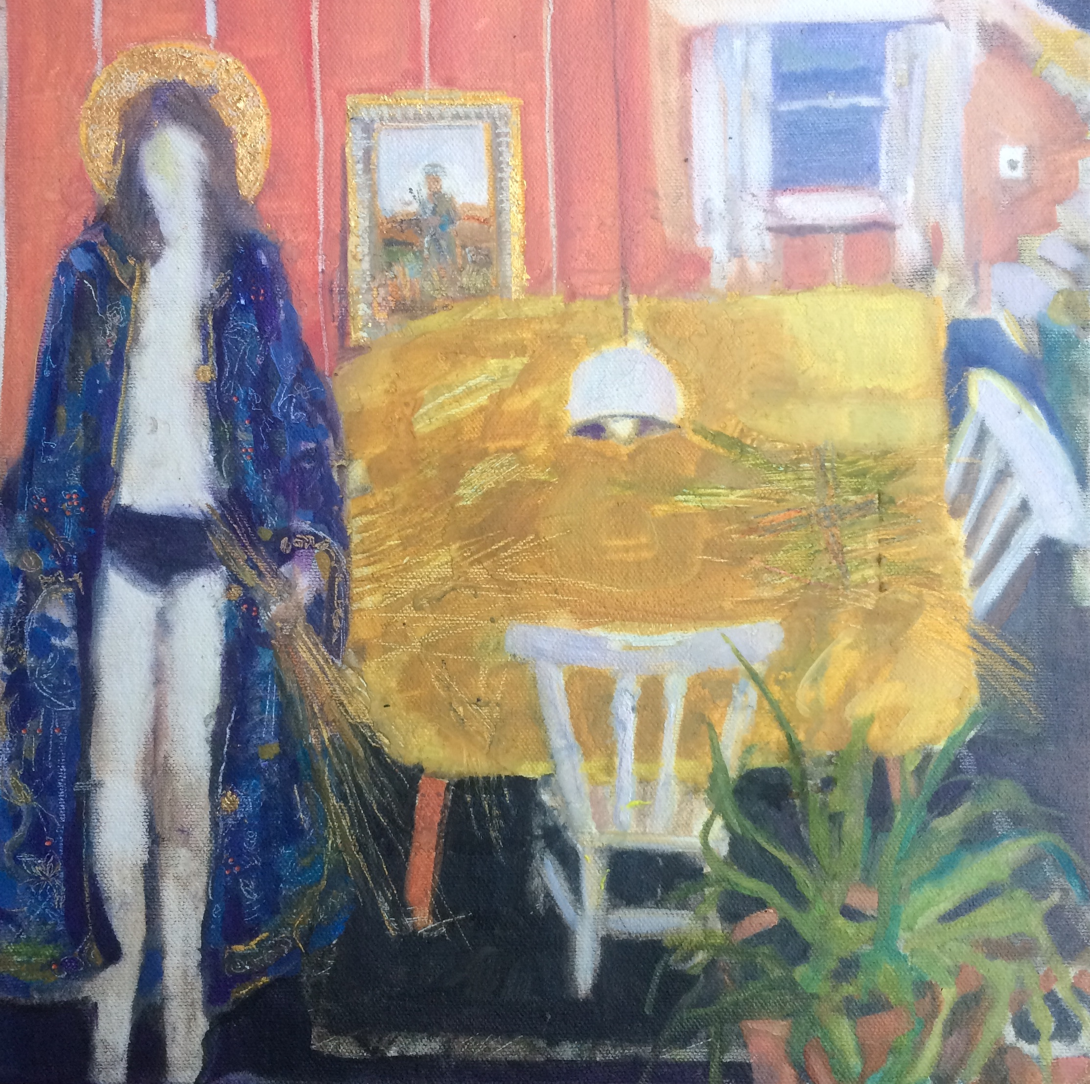 Boyle, Michelle - 'The decades that divide us' oil with 24 ct gold leaf on canvas board.jpg