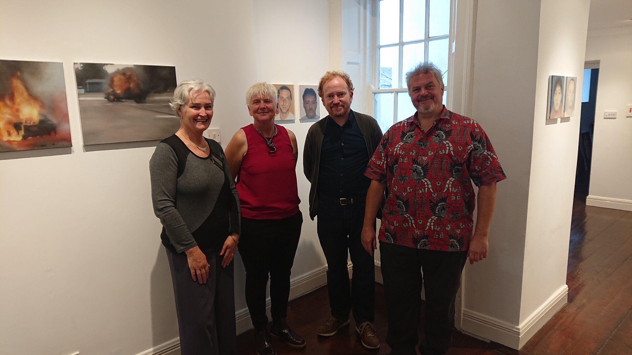 Martina Hamilton, Breda Burns, Cormac O'Leary and Ian Wieczoreck on the opening night of Blurred Visions and Fractured Edge.