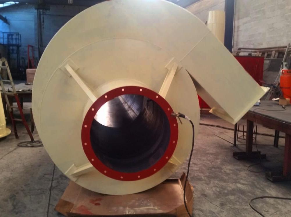 Fabricación de ciclones industriales de acero al carbono