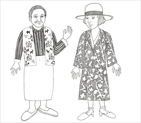 """curator-of-curiosities :     A paper doll is a paper doll is a paper doll…   Gertrude Stein paper doll via the Contemporary Jewish Museum in San Francisco created for their current exhibition """"Seeing Gertrude Stein."""" For more paper dolls of Stein, Alice Toklas, and their poodle Basket visit the CJM's  Facebook page ."""