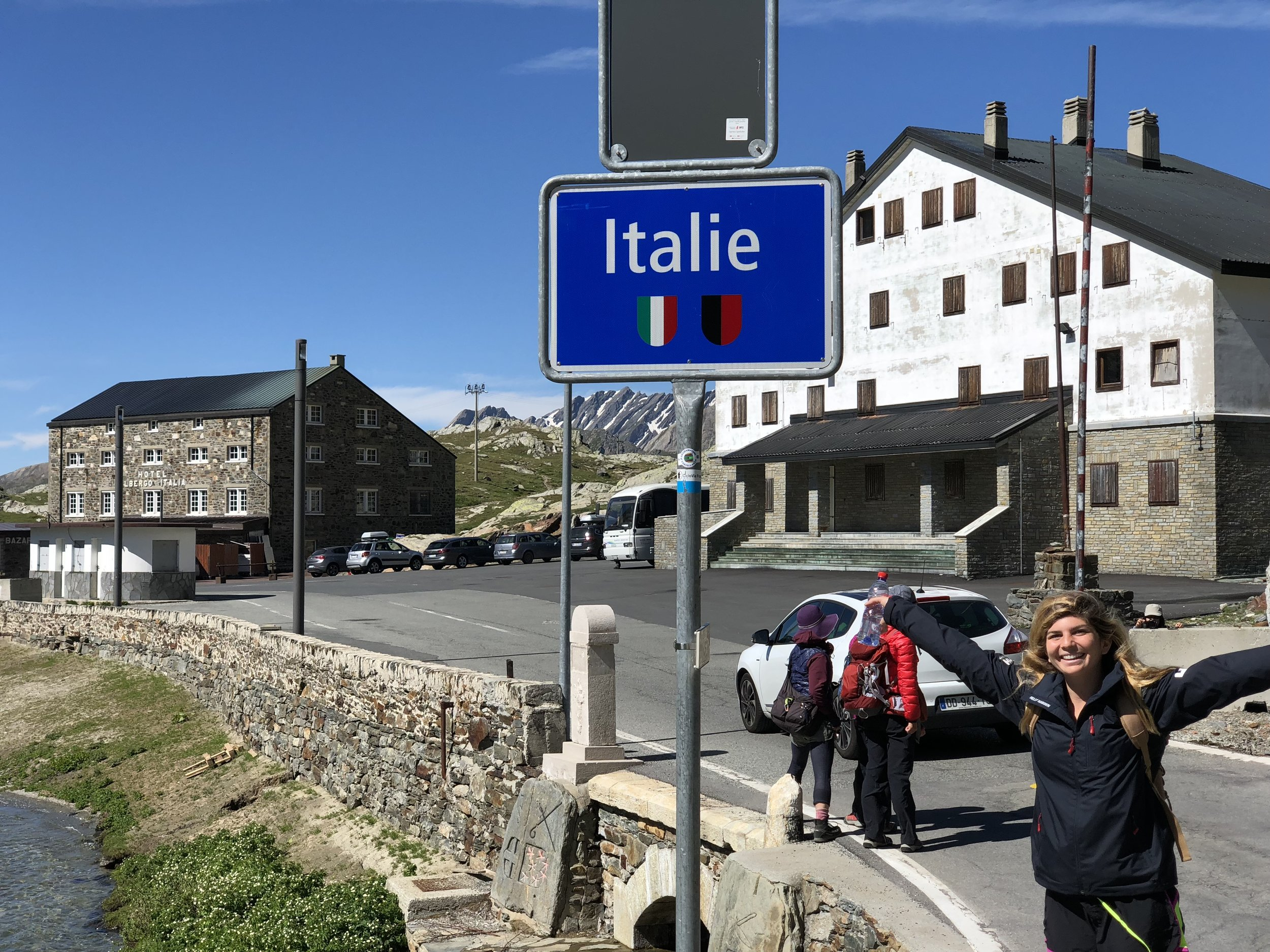 My back kept spasming as I picked my way along the path. I was lucky to follow another Pilgrim out of the city, also 40 days out from Rome and hurting. I don't know if I would have attempted walking with pain solo, but it was important to me to cross into Italy on foot.