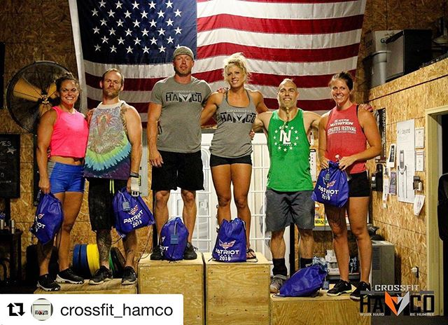 Big shout out to @summitsystems athletes and @crossfit_hamco owners Keith and Savannah Welch on their first place finish at the Patriot Games this weekend! Well done!  #AlwaysForward