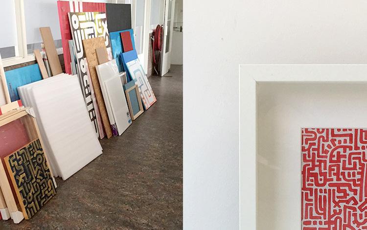 Eight new Mr. Upside artworks online - Artwork 3 of 8 'Doodle II Red'