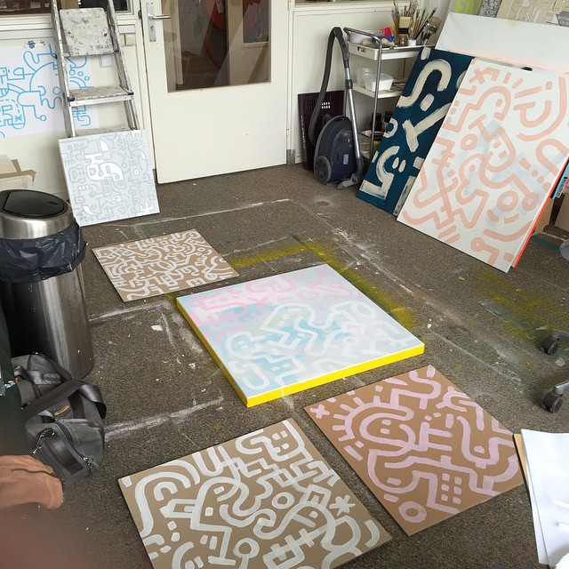 After-work-play-time - Part 1 - Preparing artworks in the studio