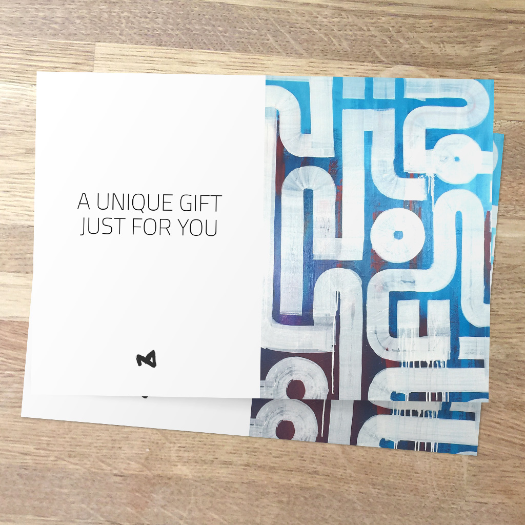 A personalised Gift Card, as a unique and personal gift for Christmas or birthday