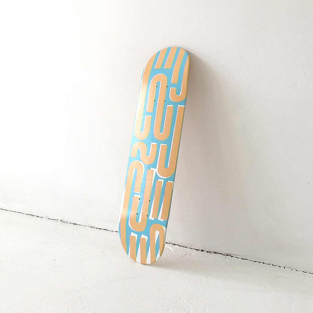 Not only illustrations or unique paintings can be bought with a Gift Card. Also art objects like the Art Bottles or this custom painted skateboard are available.