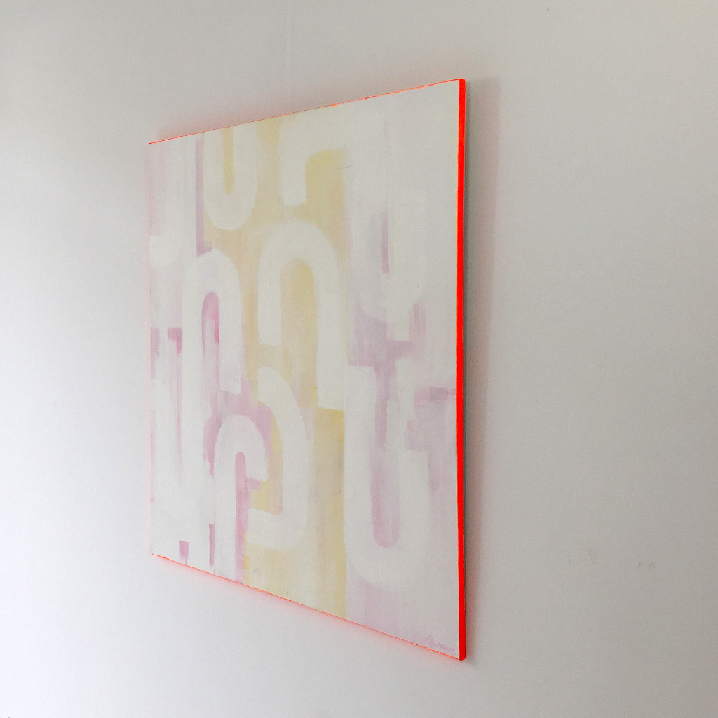 Photo 3 - Artwork 'White Lines' is a painting on canvas by Dutch contemporary urban artist Michiel Nagtegaal