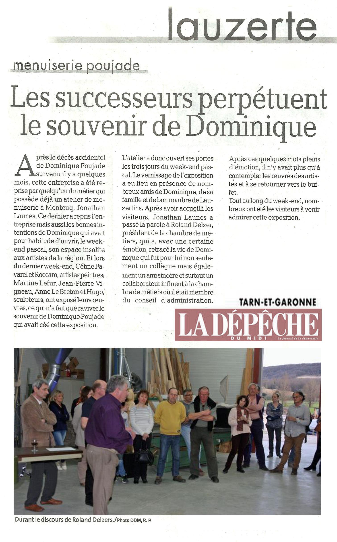 Article sur l'Expo de Lauzerte