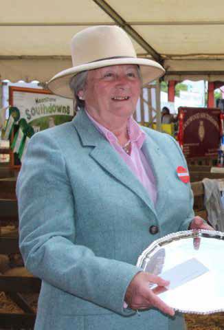 Alexandra Long, Southdown Sheep Society President 2012-2013, at the National Southdown Show.