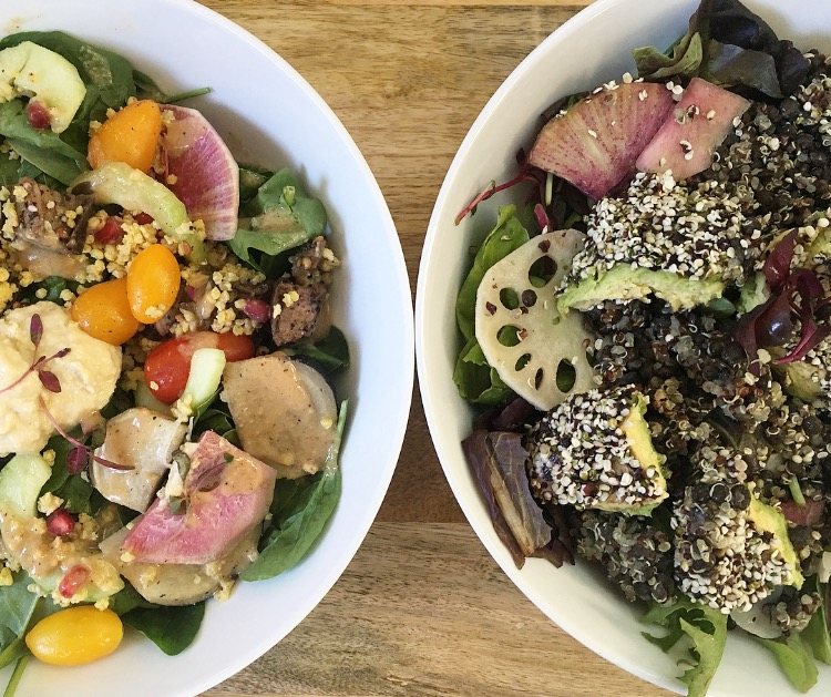 The Earth Bowl and The Med Bowl- two of our favorite meals from the week