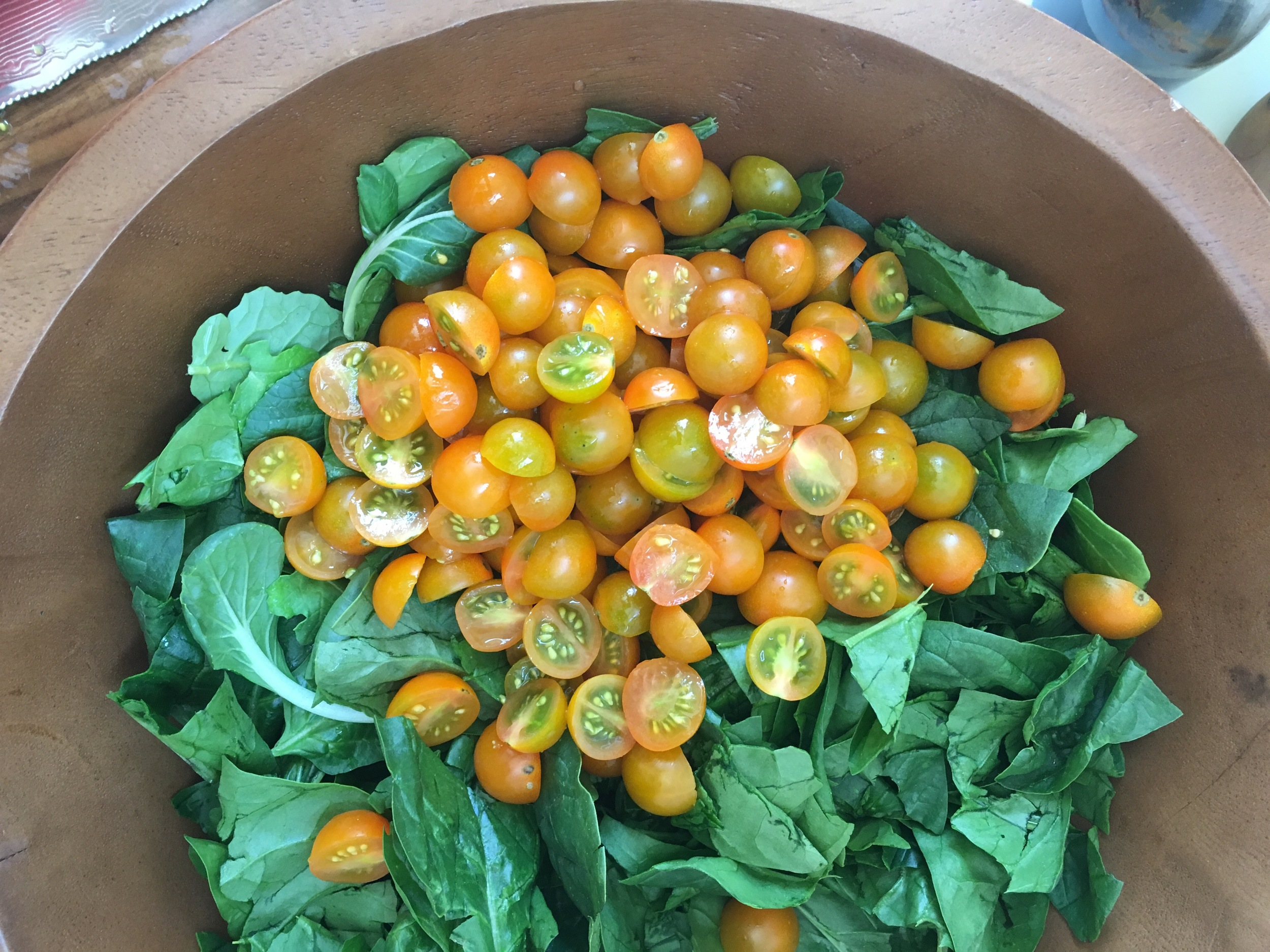 No summer salad is complete without some sort of heirloom tomato when available