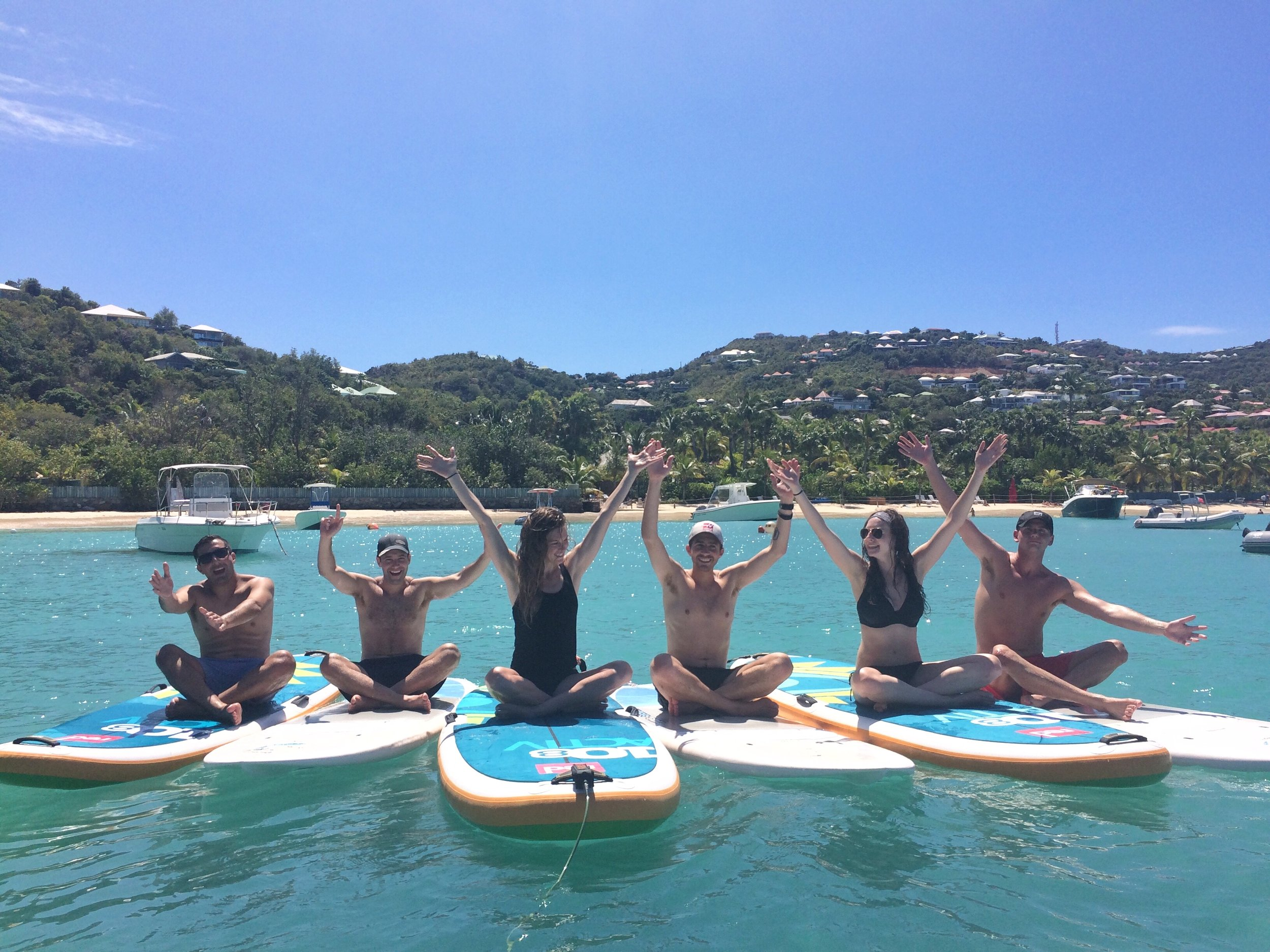 Aminata is a certified SUP Paddle Board Yoga instructor and teaches weekly classes through the Eden Rock St. Barth