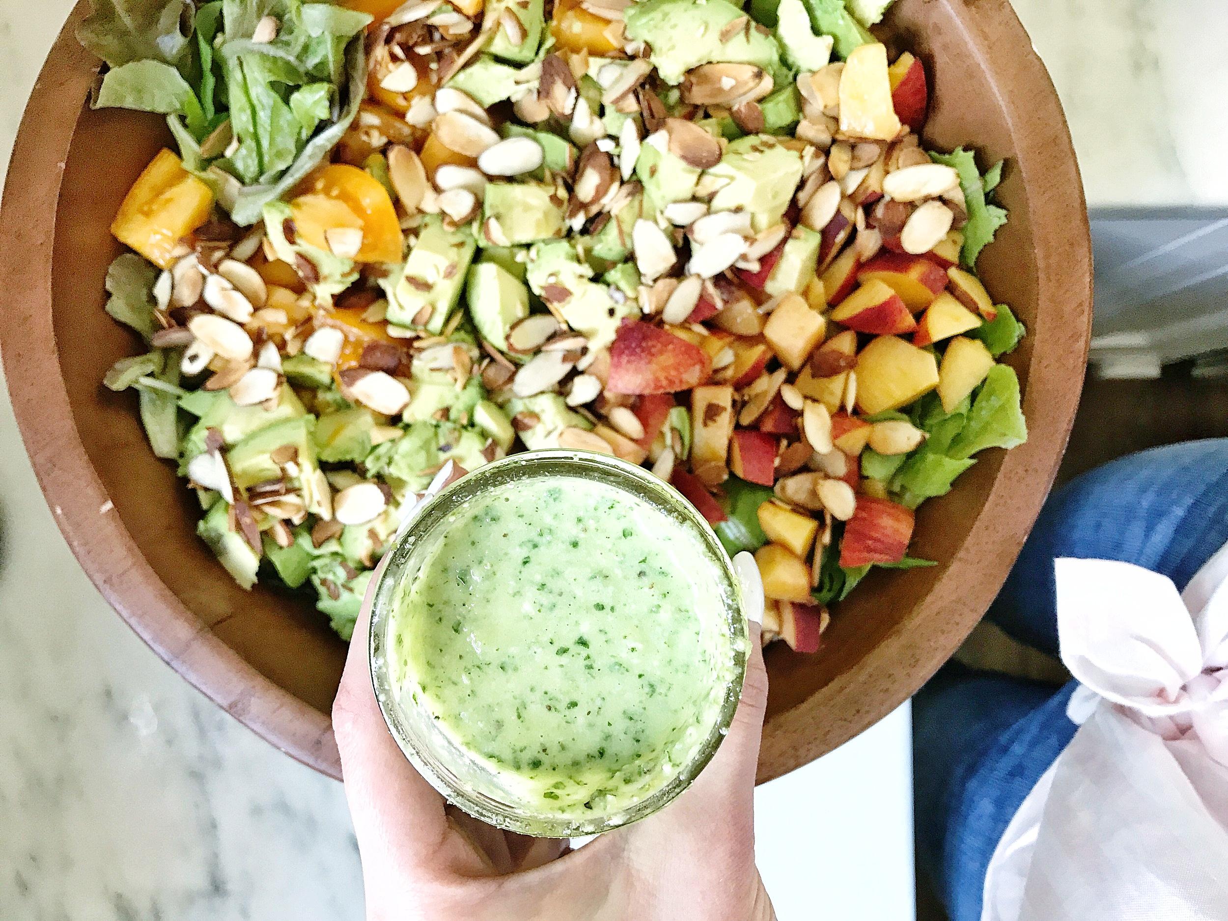 Summer Peach Salad (under lunches)