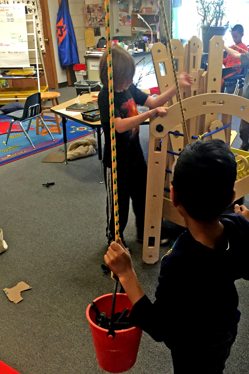 Complex build to support tall pulley