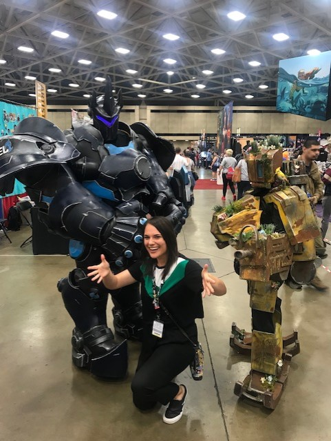 My friends at Frostbite Cosplay!! They killed it as Reinhardt and Bastion from Overwatch!!!