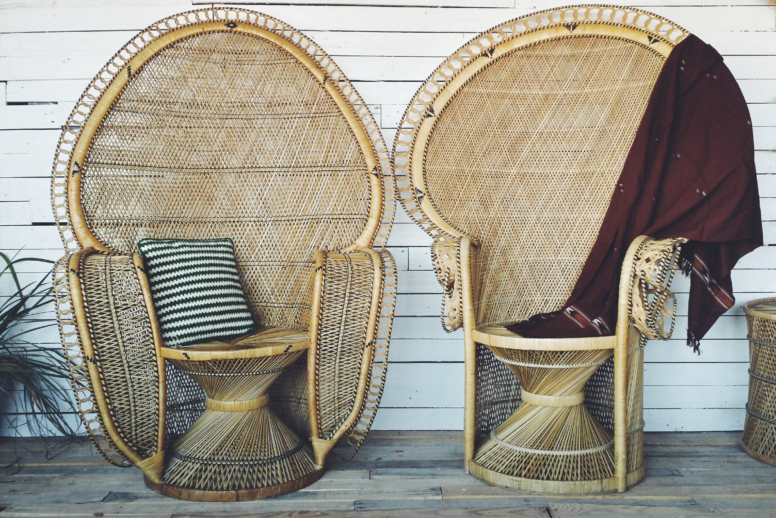 Rent both the Goddess Peacock Chair and the Shaman Peacock Chair for $400 + delivery/pickup. To inquire about renting this item and for a delivery/pickup quote please email millerislandcompany@gmail.com or call/text Travis at 647-462-7438.